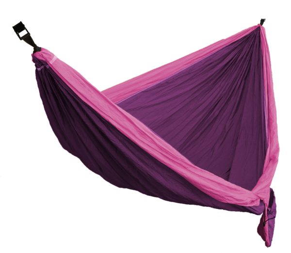 Pink and purple solid colored hammock